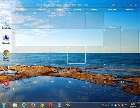 Desktop Calendar Windows 7 Desktop Calendar Windows 7 Screenshot Windows 7