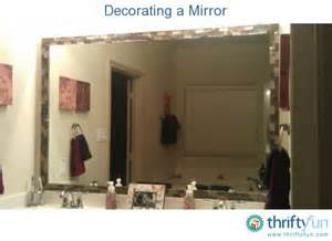 decorate a bathroom mirror decorating a mirror thriftyfun