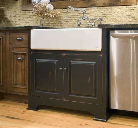 farmhouse kitchen sink base cabinet a white farmhouse sink with black sink base cabinet and