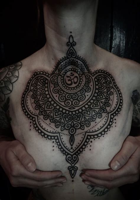 henna tattoo on chest henna style chest tattoos