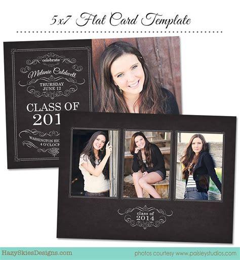 senior graduation announcement templates graduation card template for photographers