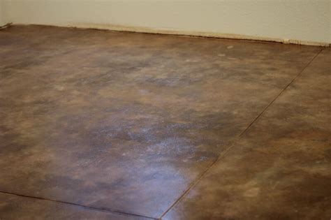 How To Get Stains Out Of Concrete Floors by How To Acid Stain Concrete Floors The Prairie Homestead