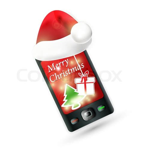 santa claus phone number email address find out here smartphone with santa s red hat mobile phone christmas