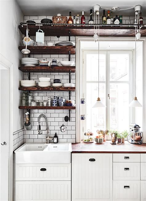 small kitchen open shelving 65 ideas of using open kitchen wall shelves shelterness