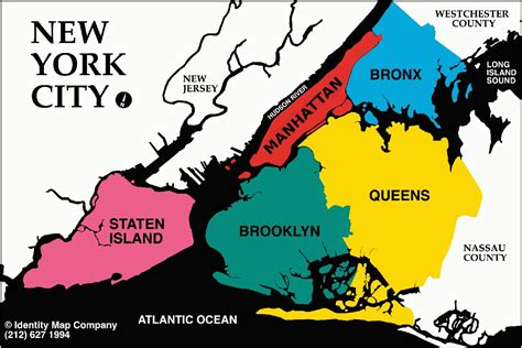map of new york city boroughs the five boroughs of new york city map collection
