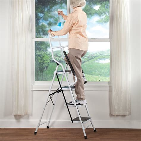 4 Step Safety Ladder With Handrails by Folding Four Step Ladder With Handrails Folding Ladder