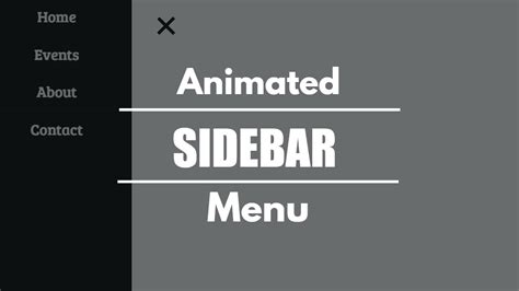How To Create A Animated Sidebar Menu Using Html Css | create animated sidebar navigation menu html css