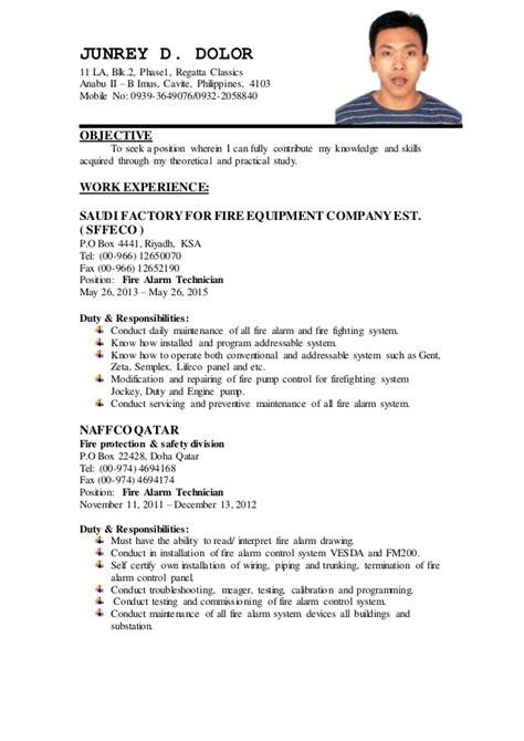 resume updated format junrey updated resume