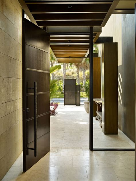 modern house door 13 architects mexico residence by kundig architects