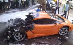 Lamborghini Countach Price In India by Lamborghini Catches Fire In Delhi Driver Escapes Unhurt
