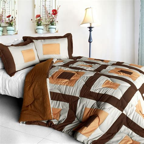 full size down alternative comforter in my life b quilted patchwork down alternative