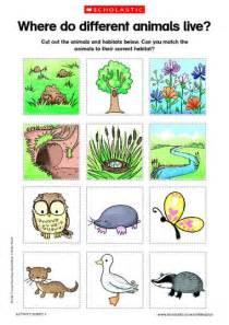 animal homes animals and habitats free printable science an