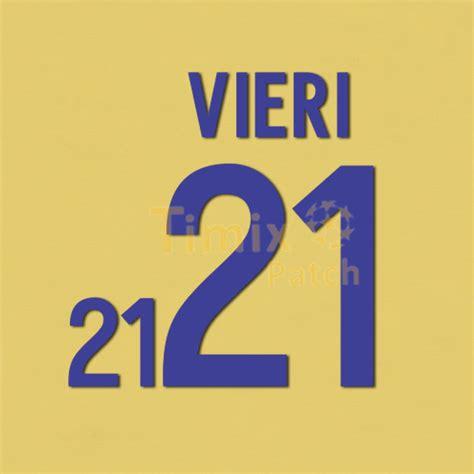 Custom Name Polyflex Font Juventus 1999 vieri 21 world cup 2002 italy away kit number name set polyflex printing timix patch timix