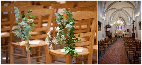 Fall Wedding Church Decorations - vintage style wedding in the parisian countryside