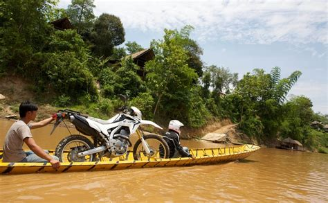 motorcycle boat the white elephant motorbike tour laos 5 day dirt bike
