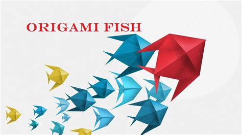 Paper Fish Origami - diy origami fish how to make origami 3d paper fish