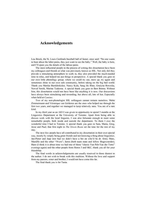 thesis of acknowledgement acknowledgement for thesis