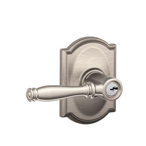 schlage front door handles schlage f51bir birmingham keyed entry leverset with