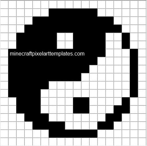 pixel template minecraft pixel templates yin yang