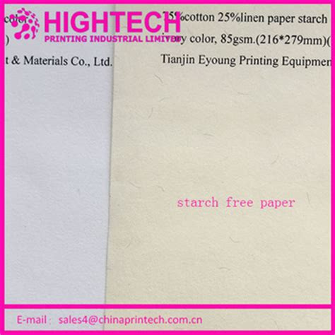 Starch For Paper - high tech business paper 75 cotton 25 linen starch free