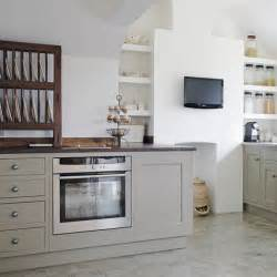 Kitchen Shelves And Cupboards Comfortable Small Tv In Wall Decoration With Grey Kitchen