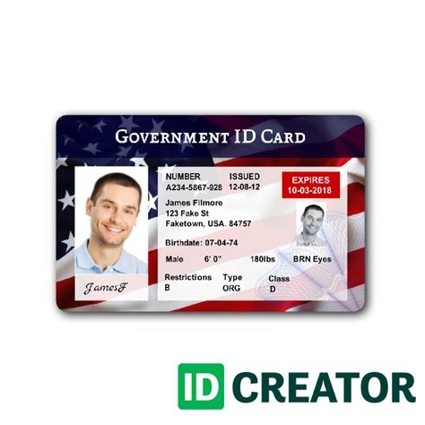 Patriotic Usa Id Badge Ships Same Day From Idcreator Id Badge Template