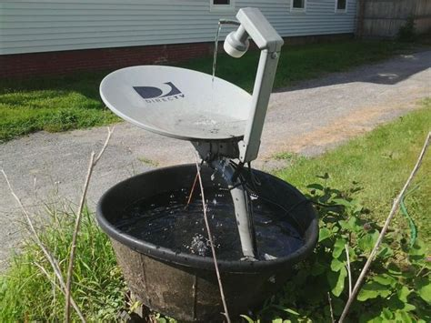 backyard satellite dish 117 best images about diy fountain on pinterest gardens