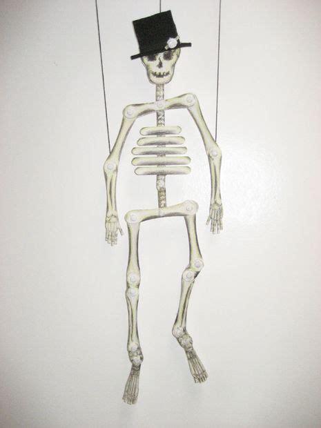 Make A Paper Skeleton - stix to bones skeleton puppet