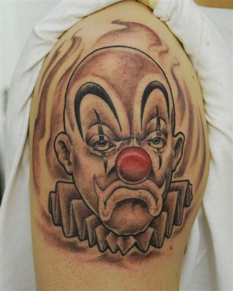 tatuajes de payasos clown tattoo tattoo and evil clown