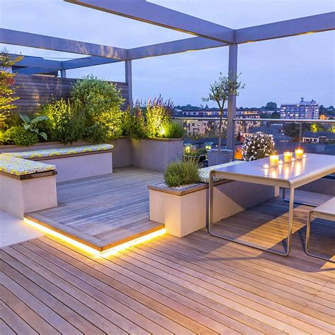 garten terrasse mit dach roof terraces gardens by contemporary designers