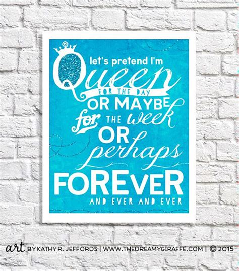 Turquoise Bedroom Decor i m the queen quote print wall art for women funny office