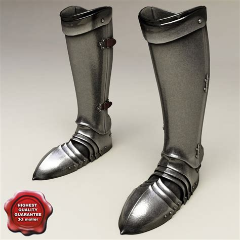 armor slippers armour boots 3d model