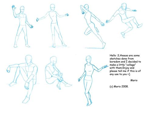 Anime Poses by Pose Reference I By Mario Anime Sketching