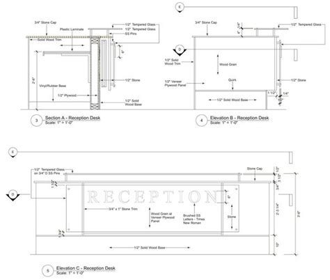 reception desk designs drawings image result for reception desk section detail drawing