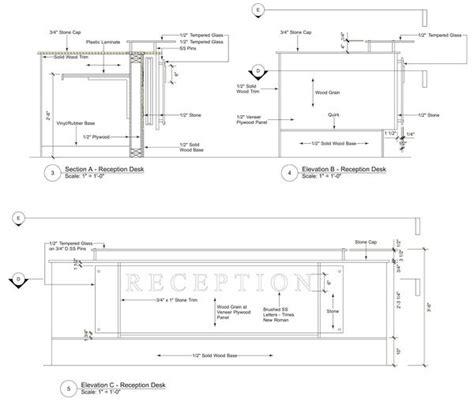 Image Result For Reception Desk Section Detail Drawing Reception Desk Detail