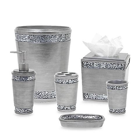 india ink bathroom accessories india ink omni bath ensemble in pewter bed bath beyond