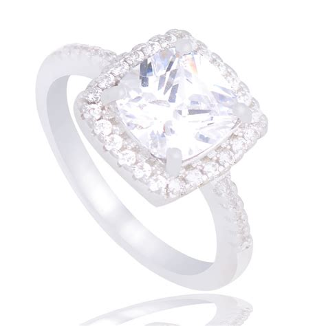 Luxury Engagement Rings by Silver Luxury Cubic Zirconia Engagement Ring 4ever Co