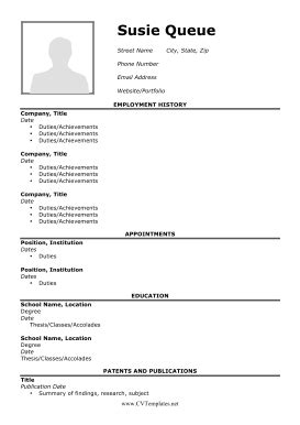 cv templates for matriculants cv with picture a4