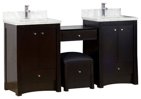 birch wood veneer vanity set distressed antique walnut