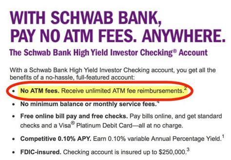 schwab bank charles schwab debit card million mile secrets