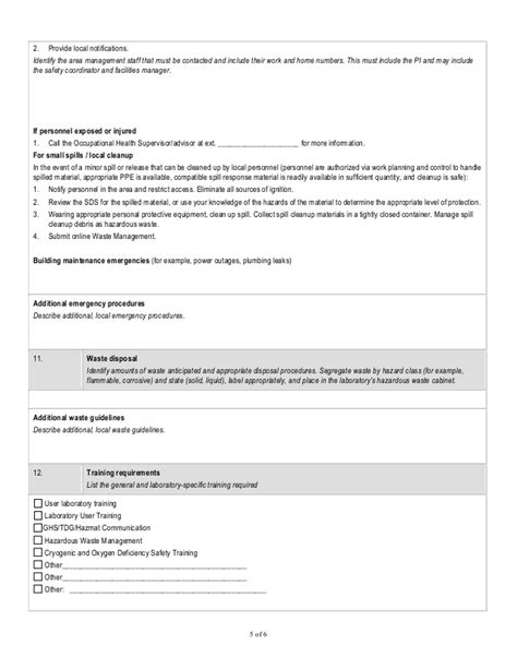ghs chemsafety template sop
