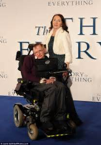 Travelling To Infinity My With Stephen Felicity Jones Receives A Hug From Hawking At The