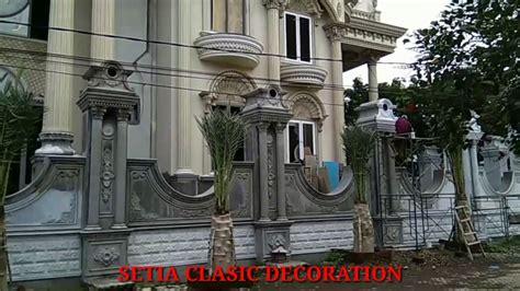 istimewa desain pilar  pagar rumah klasik youtube