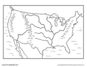 usa blank map with rivers tim de vall comics printables for