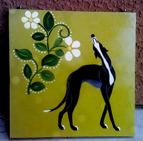 greyhound painting by jennifer howard art greyhound