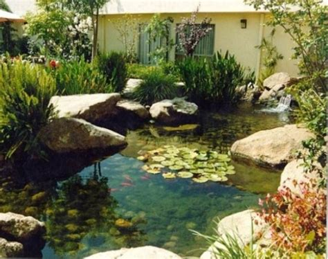 Backyard Pond Images by 67 Cool Backyard Pond Design Ideas Digsdigs