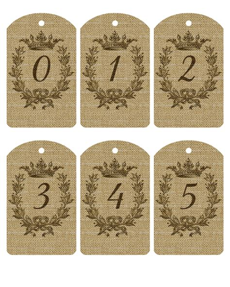 printable tags with numbers free printable burlap number tags 1 20 the cottage market