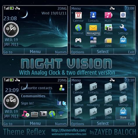 nokia c3 technology themes night vision nokia c3 x2 01 themes udated themereflex
