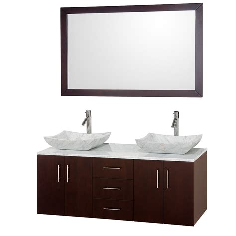 bathroom vanity for vessel sink 55 quot arrano 55 espresso vessel sink bathroom vanity