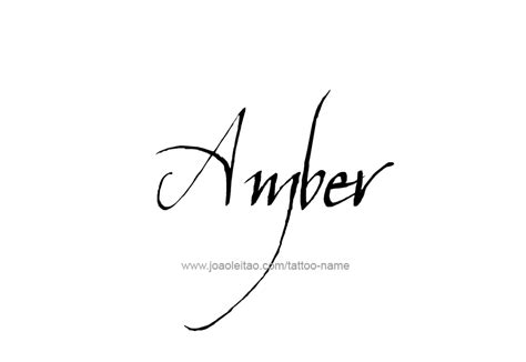 tattoo ideas for the name amber tattoo design colors names amber 25 png